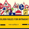 Golden Rules for Intraday Trading